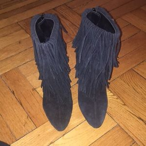Zara suede fringe booties (Excellent condition)